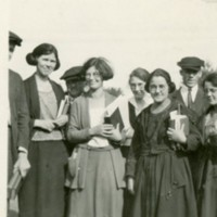Women's class with books